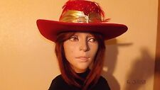 """Vintage  Little Joe 100% Wool Cowgirl Hat size 22"""" CIRCUMFERENCE Made in USA"""