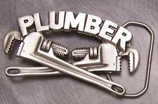 Pewter Belt Buckle Tradesman Plumber NEW