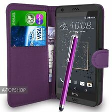 Purple Wallet Case PU Leather Book Cover For HTC Desire 530 Mobile Phone