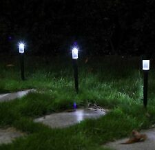 Solar Powered Rechargeable LED Lawn Garden Light Lamp Waterproof Black Body