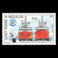 SPM 1990 - Fishing Vessels Ships Boats - Sc 498 MNH