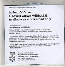 (DE89) In Fear Of Olive, Love's Grown Wild - 2012 DJ CD