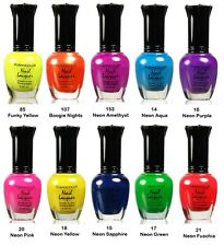 Lot of 10 kleancolor nail polish  - Neon Color Collection no 3