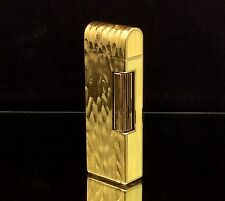 1982 dunhill ROLLAGAS Gold / Yellow DOME LID lighter - Serviced & Guaranteed