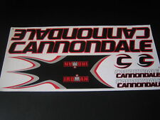 Cannondale Stickers  Black, Red & Silver.