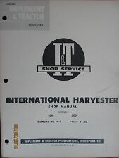 International - Harvester 100  200 Series Shop Service Manual I&T Manual No.IH-9