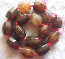 18x20mm Brown Dragon Agate Subulate Loose Beads Jewelry Stone Strand 15.5""