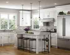 All Wood RTA 10X10 Transitional & Classic Kitchen Cabinets in Victoria White