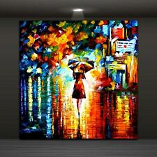 Canvas Painting Print Modern Abstract Wall Art Picture Umbrella Girl 75x75