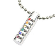 Pride Shack - Grooved Rainbow Cylinder Pendant - Lesbian Gay Pride LGBT Necklace