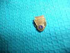 Lions Club Badge,100% attendance,1954-55.  Given out in New Zealand,Made in USA.