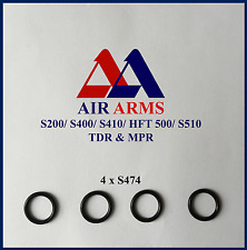 AIR ARMS S474, T BAR FILLING ADAPTOR SEALS x 4, S200, S400, S410, S510
