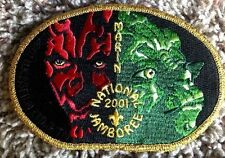 STAR WARS 2001 SCOUT JAMBOREE DARTH MAUL YODA MARIN COUNCIL PATCH $5000 DONATED