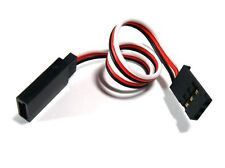 10cm Ultra Lite Servo Extension Cable Lead fits Futaba