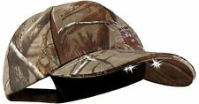 LED Lighted Camo Baseball Cap Camping Hunting Fishing Hands-Free Lighting Tool
