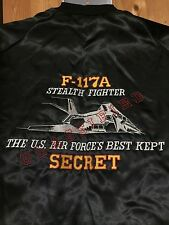 NEW MINT Satin M Jacket Desert Storm F-117A Stealth Fighter Westark Made In USA
