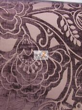 FLORAL KINGDOM CHENILLE UPHOLSTERY FABRIC - Plum - BY YARD DRAPERY HOME DECOR