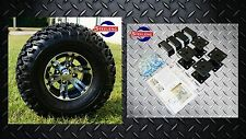 "EZGO MARATHON ELECTRIC GOLF CART 4"" LIFT KIT + 10"" WHEELS and 22"" AT TIRES"