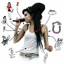 Amy Winehouse Premium Temporary Tattoos (A5 pack)