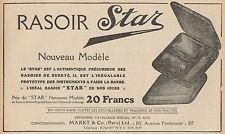 Y7252 Rasoir STAR - Pubblicità d'epoca - 1923 Old advertising
