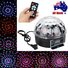 6LED RGB DJ Light LED Stage Lighting Crystal Magic Ball Effect Disco Party Laser