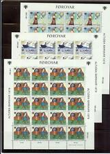 Denmark  Faroe Islands 1979 Sc# 45-47 set Children drawings MNH mini sheets