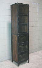 Industrial Pantry. Metal and reclaimed wood. Cupboard, curio, Kitchen cabinet.