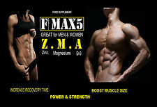 ZMA TABLETS INCREASE POWER MUSCLE GROWTH + STRENGTH TESTOSTERONE BOOSTER PILLS