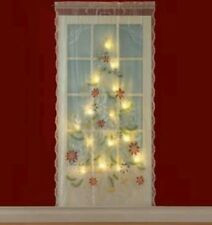 "Lighted Christmas Tree Curtain Panel 84"" x 48"" FREE SHIPPING..BRAND NEW..."