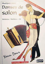 Accordéon diatonique Tablatures Danses de Salon Y.Dour neuf avec CD