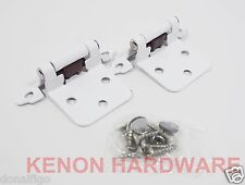 Lot of 25 Pairs /50pcs Self Closing Variable OVERLAY Cabinet Hinges - WHITE
