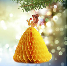 DISNEY PRINCESS BEAUTY BELLE 3D POP UP GREETING CARD CHRISTMAS TREE DECORATION