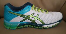 ASICS GEL QUANTUM 180 RUNNING SHOES WHITE/TURQUOISE  WOMEN'S  SIZE 9,5