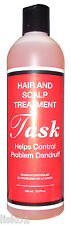 TASK TONIC  (HASK)  HAIR & SCALP DANDRUFF TREATMENT, HELPS SCALP ITCH 12 OZ