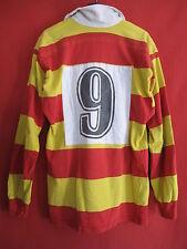 Maillot Rugby USAP PERPIGNAN Vintage Porté Match n° 9 BE ancien - XXL