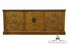 CENTURY FURNITURE Bookmatched Burl Asian Style 77″ Dresser