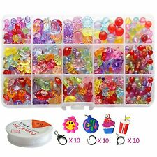 Girls Bracelet Beads Child Jewelry Making Kit Charm Bead Different Shape Maker