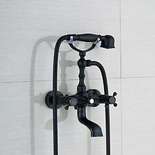 Modern Oil Rubbed Bronze Wall Mount Bathroom Tub Faucet Hand Shower Mixer Tap