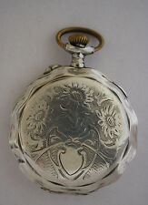 Rare Silver Hebdomas Very Beautiful Pocket Watch