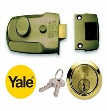 Yale 60mm P77M/ENB/PB Noche Pestillo Nightlatch con cilindro de latón-Nuevo