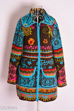 Ivko ivkovic cardigan jacket knitwear with pockets wool blend boho size EU S