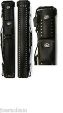 Vincitore LC24 GRADE A - 2x4 Black Leather Cowboy Style, FREE US SHIPPING