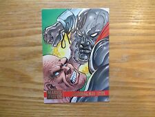 1995 FLEER MARVEL VS DC ABSORBING MAN STEEL CARD SIGNED JIMMY PALMIOTTI,WITH POA