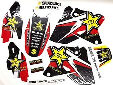NEW TEAM ROCKSTAR SUZUKI GRAPHICS RED DRZ400 DRZ 400 2000-2009
