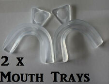 2x THERMO FORMING TEETH TOOTH WHITENING BLEACHING KIT MOUTH TRAYS MOLDING DUAL