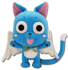 "GE Animation Official Fairy Tail Anime Happy 8"" Plush Lucky Cat Cute plushie Aye"