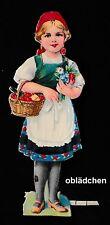 # GLANZBILDER #  Rotkäppchen 3, ca. von 1940, 13,5 cm, schön geprägt, von L & B?