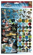 Paper Projects JURASSIC WORLD Multi Pack reusable Foil Craft Stickers Age 3+