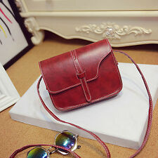 Women Girl Shoulder Bag Faux Leather Satchel Crossbody Tote Handbag RD