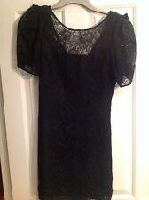 oasis Black lace party dress size 12